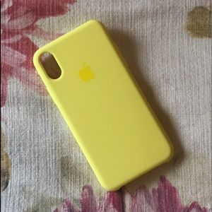 promo code a643c 16d66 Brand New iPhone X Silicone Case Yellow Lemonade NWT